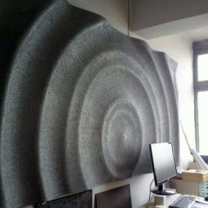 3d Vízcsepp panel, beton felülettel