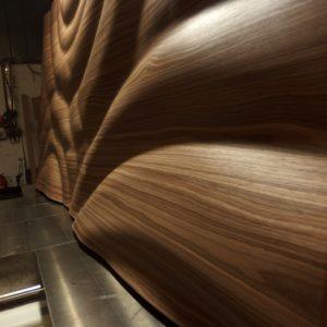 3d fa vízcseppes falpanel