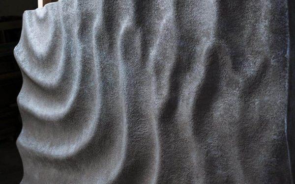 Szél, víz, hullámok - 3d antik vas felületű médiapanel