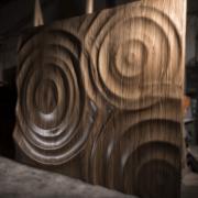3 dimenziós hajlított fa falpanel