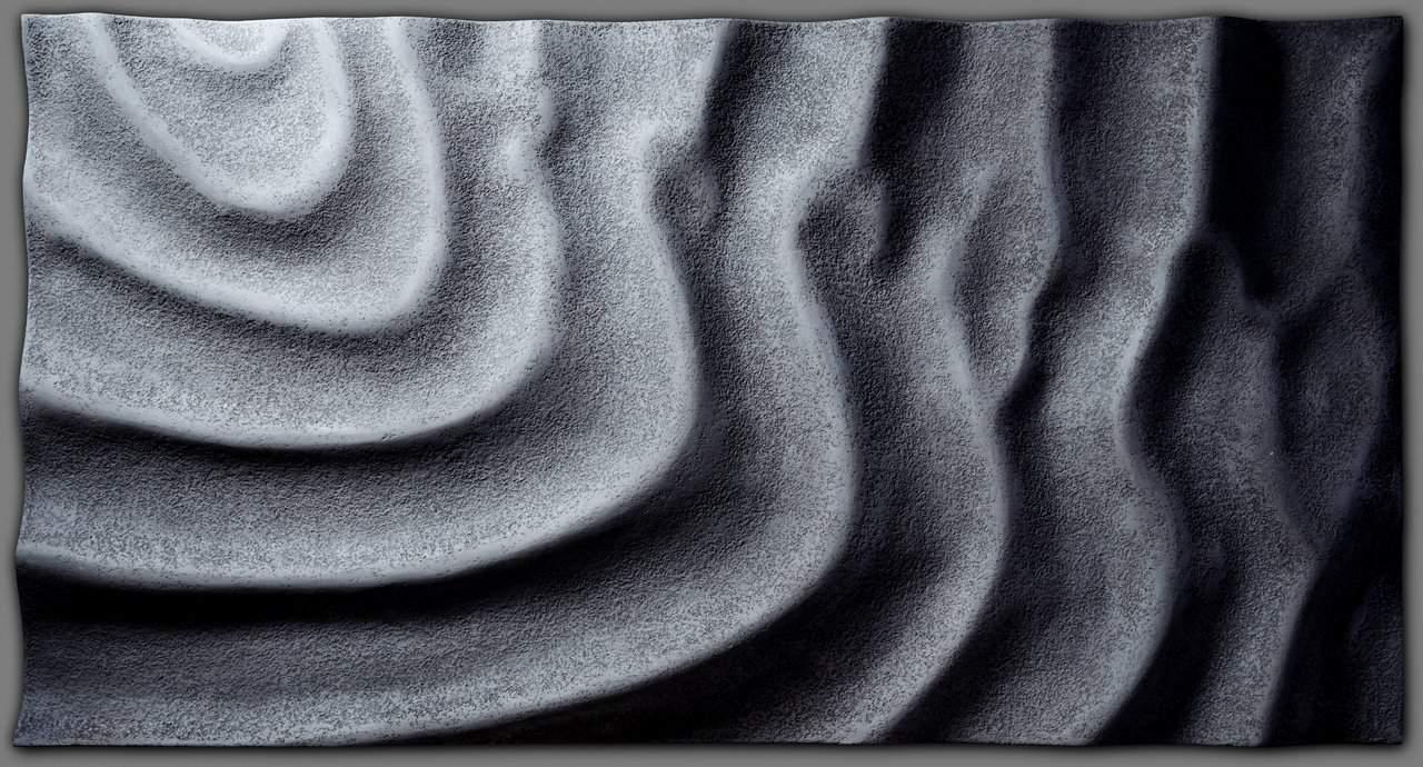 Szél, víz, hullámok - 3d beton felületű médiapanel