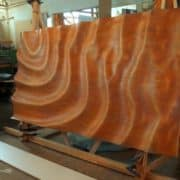 """""""Víz, szél, hullámok"""" 3d fa hajlított panel"""