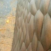 Wenge 3d fa falpanel, sejtmintás, domború 3d fa falpanel sejtminta domború homorú 3d felület 3d panel