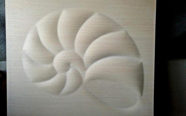 Csigaház 3d fa fali kép falpanel falburkolat